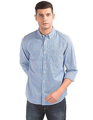 GAP True Wash Poplin Mini Tattersall Standard Fit Shirt
