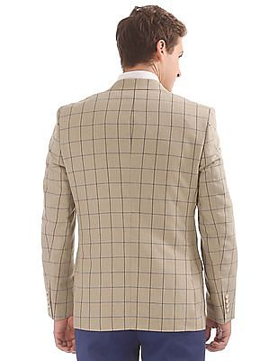 Arrow Regular Fit Windowpane Check Blazer