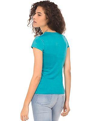 SUGR Printed Cotton T-Shirt