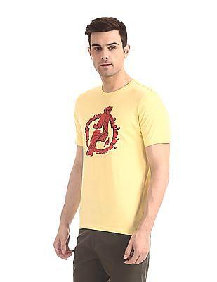 Colt Yellow Crew Neck Avengers Graphic T-Shirt