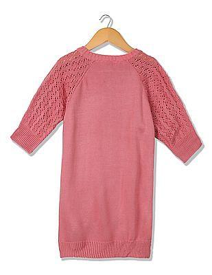 Cherokee Girls Patterned Knit Sweater