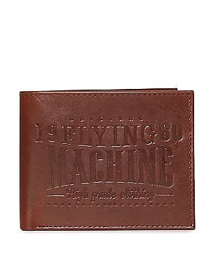Flying Machine Embossed Bi Fold Wallet