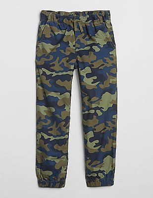 GAP Boys Camo Canvas Joggers