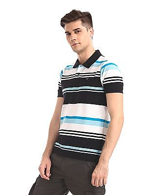 Ruggers Multi Colour Short Sleeve Striped Polo Shirt