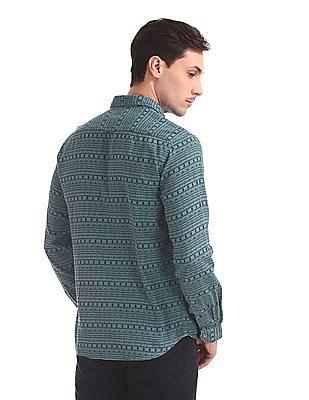 Cherokee Long Sleeve Aztec Print Shirt