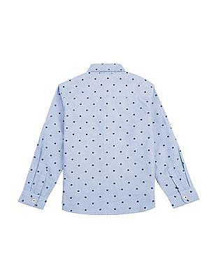 U.S. Polo Assn. Kids Boys Star Print Chambray Shirt