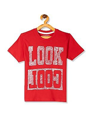Cherokee Red Boys Cotton Jersey Graphic T-Shirt