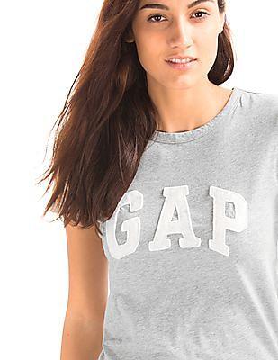 GAP Women Grey Classic Logo Tee