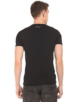 Ed Hardy Silica Printed Crew Neck T-Shirt