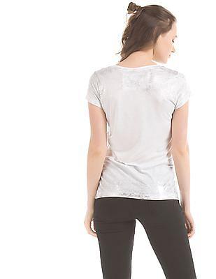 EdHardy Women Embellished Regular Fit T-Shirt