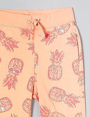 GAP Orange Toddler Boy Print Pull-On Pants
