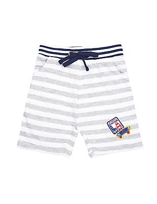 Donuts Boys Cotton Knit Shorts - Pack of 2