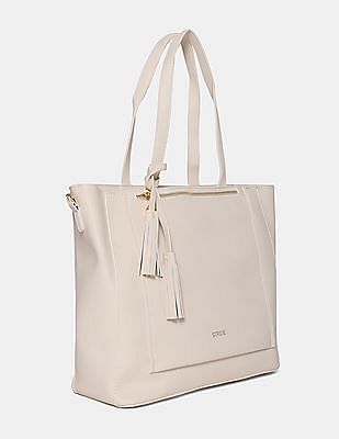Stride Textured Tote Bag With Zipper Pouch