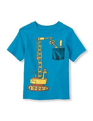 The Children's Place Baby Round Neck Printed T-Shirt