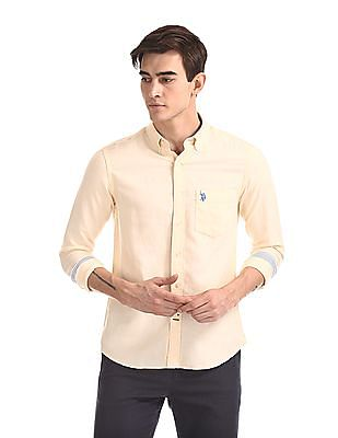 U.S. Polo Assn. Button Down Collar Tailored Regular Fit Shirt