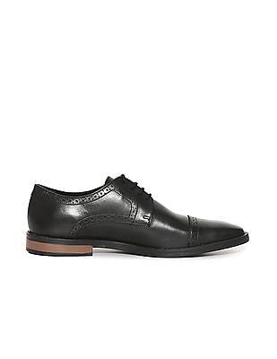 Arrow Cap Toe Leather Derby Shoes