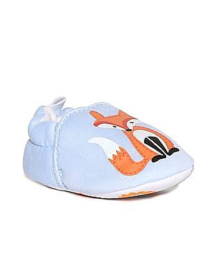 Donuts Blue Girls Animal Print Slip-On Shoes
