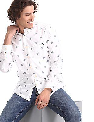 Aeropostale White Button Down Cotton Shirt