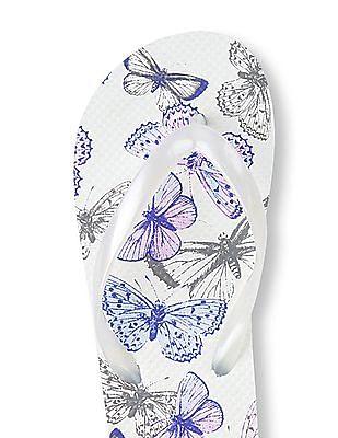 The Children's Place Girls Butterfly Flip Flop