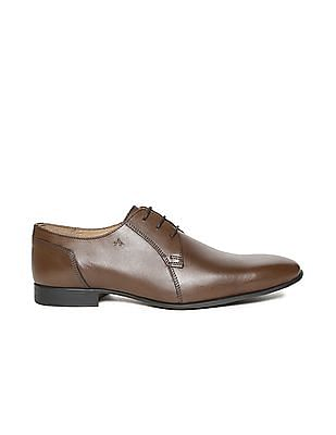 Arrow Square Toe Leather Derby Shoes