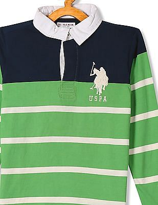U.S. Polo Assn. Kids Standard Fit Striped Polo Shirt