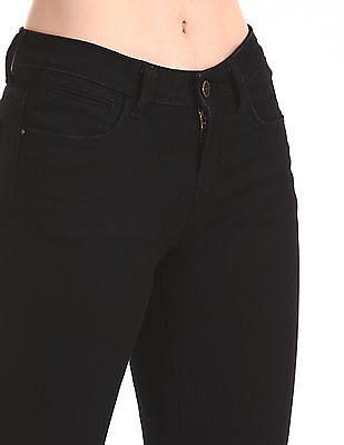 Cherokee Black Zipped Hem Rinsed Boomerang Jeans