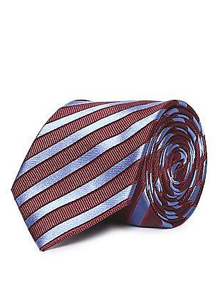 Arrow Contrast Striped Tie