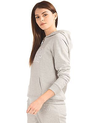 GAP Applique-Front Hooded Sweatshirt