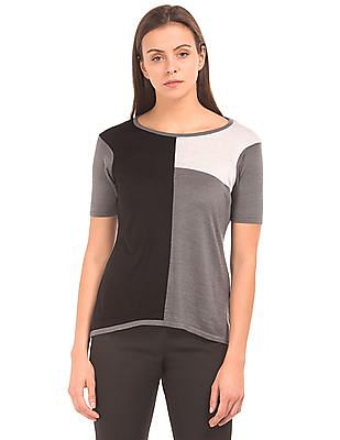 Arrow Woman Colour-Block Knit Top