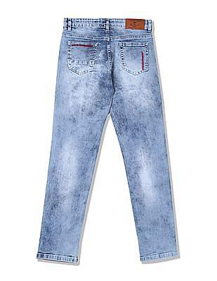 Cherokee Boys Slim Fit Stone Wash Jeans