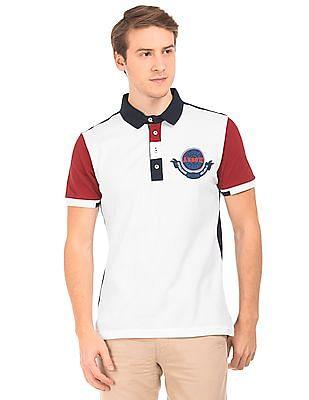 Arrow Sports Colour Block Regular Fit Polo Shirt