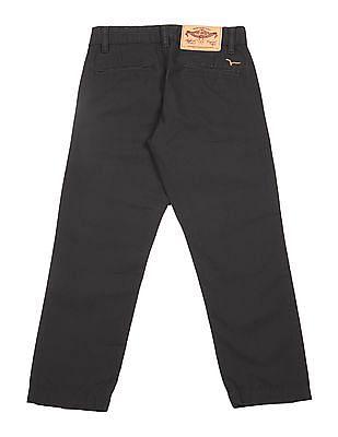 FM Boys Boys Slim Fit Flat Front Trousers