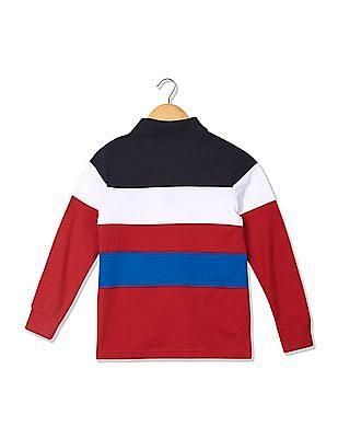U.S. Polo Assn. Kids Boys Long Sleeve Colour Block Polo Shirt