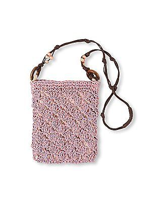 The Children's Place Girls Pink Straw Purse