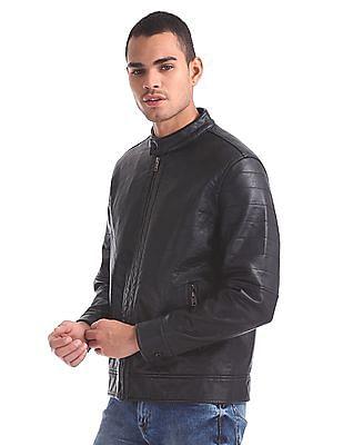 Aeropostale Quilted Sleeve Biker Jacket