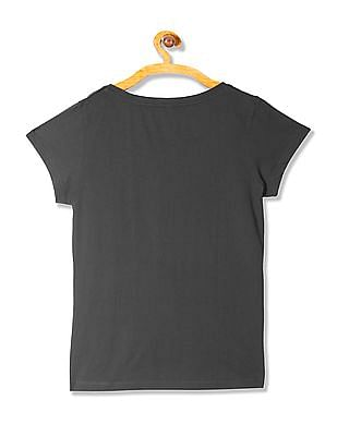 U.S. Polo Assn. Women Embroidered Round Neck T-Shirt