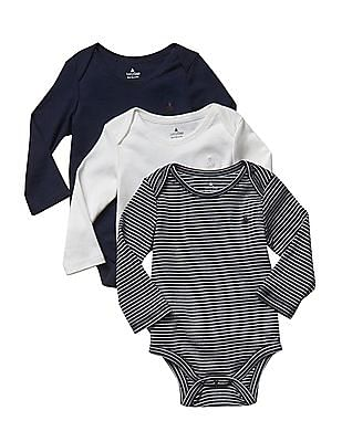 GAP Baby Favourite Long Sleeve Bodysuit - Pack Of 3