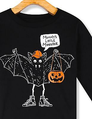 The Children's Place Black Toddler Boy Mommy's Little Monster Graphic T-Shirt