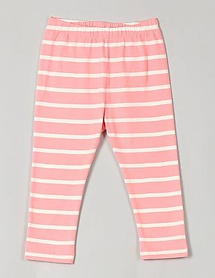 GAP Baby Pink Print Leggings In Stretch Jersey