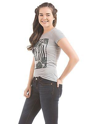 Aeropostale Glitter Print T-Shirt