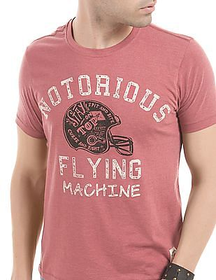 Flying Machine Regular Fit Graphic Print T-Shirt
