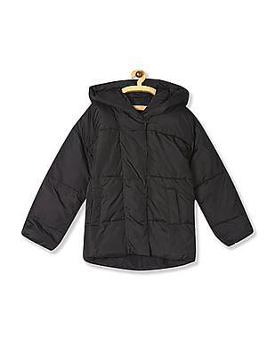 Aeropostale Black Hooded Puffer Jacket