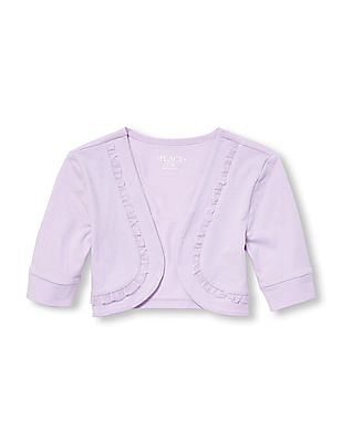 The Children's Place Girls Elbow Sleeve Ruffle Shrug