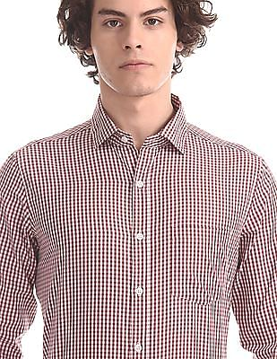 Excalibur Red Patch Pocket Check Shirt