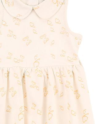 Cherokee Girls Peter Pan Collar Fit And Flare Dress