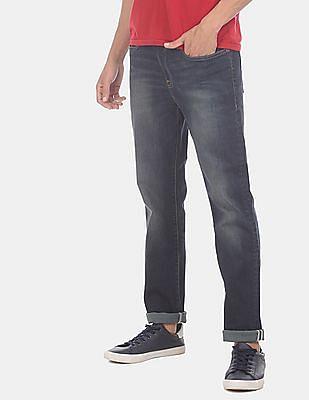 Aeropostale Men Blue Skinny Fit Washed Jeans