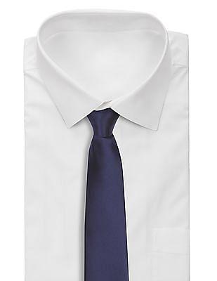 Arrow Striped Weave Solid Tie