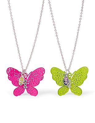 The Children's Place Girls 'BFF' Butterfly Necklace 2-Pack