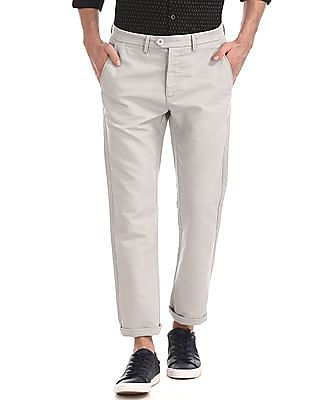 Ruggers Grey Urban Slim Fit Solid Trousers