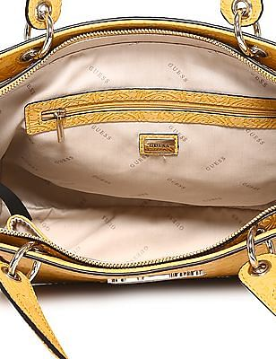 GUESS Brand Accent Embossed Hand Bag